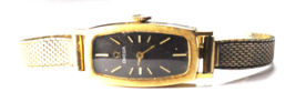 Vintage 14k Solid Gold Omega 485 Manual Wind AA5346 Black Dial Wristwatch 14mm - $494.99