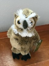 Gently Used Wildlife Artists Olive Great Horned OWL Plush Stuffed Animal... - $8.59