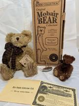 "Boyds Bears Uncle Gus & Honey Bunch 12"" Mohair Bear & Figurine Set, Nib! 1997 - $49.99"