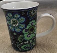 Vera Bradley BLUE RHAPSODY  Coffee Tea Cup Mug Barnes & Noble Floral Psy... - $14.84