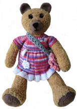 Teddy Bear Stuffed Toy Handmade- Nursery Decoration -Baby Shower Present... - €40,26 EUR
