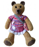 Teddy Bear Stuffed Toy Handmade- Nursery Decoration -Baby Shower Present- OOAK - $48.00