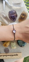 Firefly Glass Bracelet, Reiki Infused, Made in Japan, Lilac Purple Pink ... - $25.55