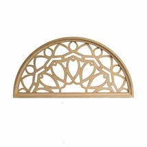 Distressed Wood Half Moon Cut Out Architectural Wall Decor - $47.48