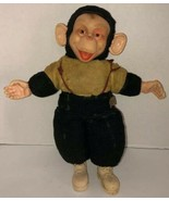 "VTG 50s MR BIM MONKEY ZIPPY ZIM 16"" Stuffed Plush Monkey Rubber Face Bij... - $234.95"