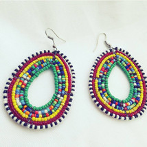 African beaded earrings |African earrings |ethnic african earrings |Masa... - $4.99
