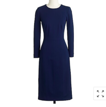 J. Crew Structured knit zip dress Blue Size 10 Work Office Long Sleeve - $46.47