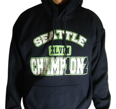 Seattle Seahawks Super Bowl XLVIII 48 Champions Commemorative Hoody Swea... - $24.95