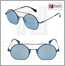 FENDI EYELINE FF0291S Navy Blue Flash Mirrored Flat Metal Sunglasses 029... - $197.01