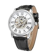 Men'S Classic Watch Stainless Steel Skeleton Luminous Auto Mechanical Le... - €41,94 EUR