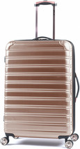 Hardside Spinner Suitcase Rolling Luggage 24-in Travel Rose Gold Carry-O... - $97.70