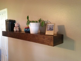 Floating shelf, rustic floating shelf Hand made to order.FREE SHIPPING - $55.00