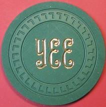 $20 Vintage Casino Chip. YEE, Sacramento, CA. 1950s. Q47. - $27.50