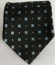 Brooks Brothers Silk Stain Resistant Floral Neck Tie Black Blue - $24.74