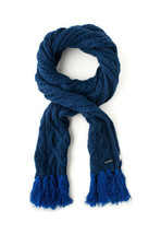 Diesel Unisex K-Derdy 00STPJ Coarse Knitting Scarf Deep Blue - $64.03