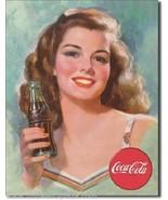 Coca-Cola Beautiful BRUNETTE Metal Sign - $11.26