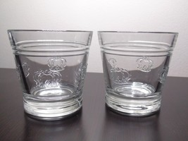 Crown Royal With Embossed Raised Logo Crowns Rocks Glasses-Set Of 2 - $17.99