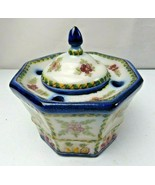 Vintage 1969 Rare Lisboa Portugal hand painted porcelain inkwell - $59.00