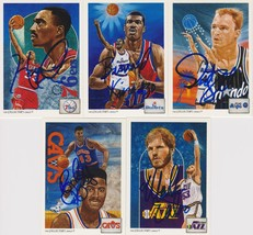NBA Legends Signed Lot of (5) Trading Cards - Hawkins, King, Skiles - $14.99