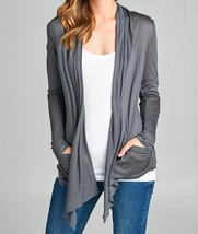 Plus Size Cardigan, Plus Lightweight Cardigans, Lightweight Cardigans, Gray