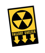 1950's Fallout Shelter War Sign Design  Reproduction 8x12 Inch Aluminum ... - $14.80