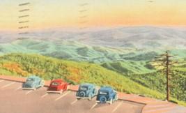 GATLINBURG TENNESSEE 1946 POSTMARKED POSTCARD Smokey Mountains Clingmans... - $11.30