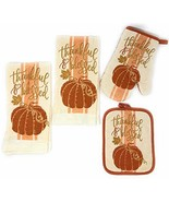 Northeast Harvest Autumn Dish Towels Potholder Oven Mitt Set, 4-Pack (Th... - $18.13