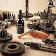Zilberhaar Beard Oil Kit - Pocket Beard Brush with 1st Cut Boar Bristles Ideal f image 3