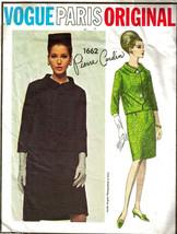 Vintage 1960's Misses JACKET & SKIRT VOGUE PARIS ORIGINAL Pattern 1662 S... - $25.00