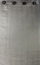 "NEW Studio JCP Home Bungalow Grommet Curtain Panel Taupe / Cream  50"" x 95"" - $18.90"