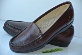SAS Tripad Womens Sz 6.5 S Burgundy Leather Comfort Loafers NICE!! - $37.61
