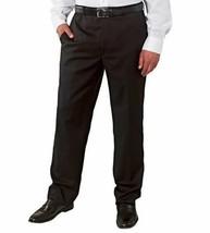 Nwt Kirkland Signature Hombre Lana Delantero Pantalón Elegante Largo Gris Carbón