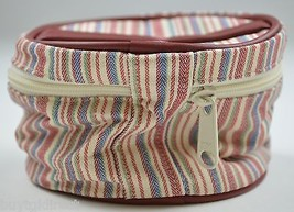 Longaberger Market Stripe Mom's Essentials Cosmetic Bag Makeup Accessory... - $14.99