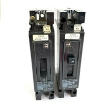 Lot of 2 Westinghouse EHB1020 20 Amp 1 Pole 277 V Circuit Breaker (1 Has a chip) - $18.69