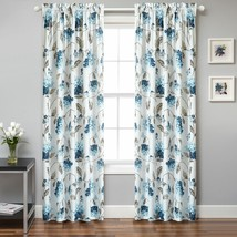 "Mainstays Modern Floral Warwick Curtain Panel 50"" x 63"", Set of 2 - $23.75"