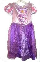 Disney Tangled Purple & Pink Rapunzel Costume Dress w/Glitter Sz M (8-10)  - $23.74