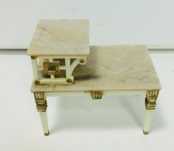 Vintage 1960's IDEAL Petite Princess Doll House Living Room Marble Side ... - $12.19