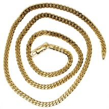 MASSIVE 18K GOLD GOURMETTE CUBAN CURB CHAIN 3.5 MM 20 IN. NECKLACE MADE IN ITALY image 2