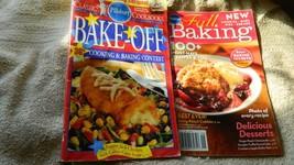 PILLSBURY BAKE-OFF 36th & FALL BAKING SEPT '08 COOKBOOKS LOT OF 2 FREE U... - $7.69