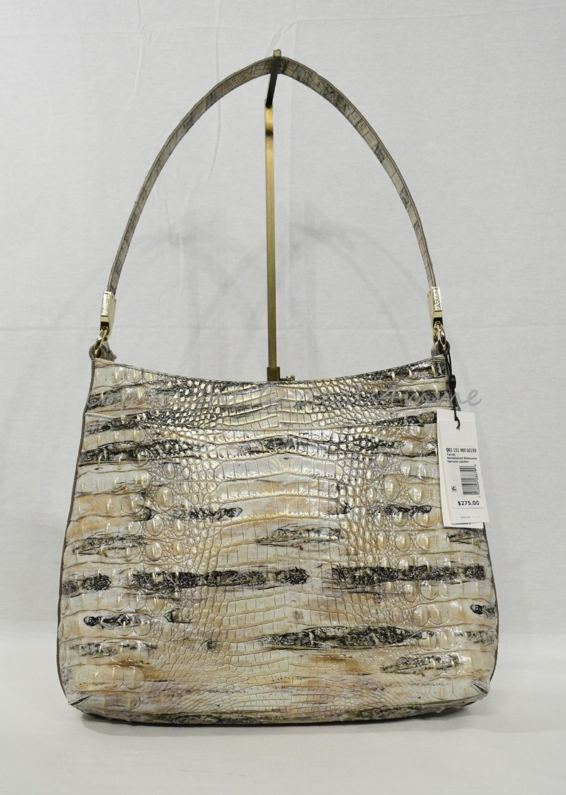 NWT Brahmin Farrah Leather Tote / Shoulder Bag in Sandalwood Melbourne image 12