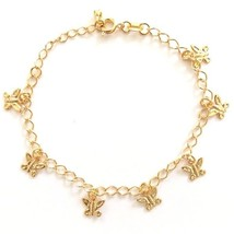 GOLD PLATED QUALITY NICKLE FREE CHARM BRACELET BUTTERFLY MARIPOSA  ADJUS... - $14.49