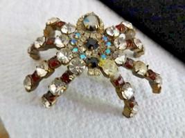 Vintage Czech Rhinestone Husar D? Huge Tarantula Spider Shoulder Brooch ... - $39.40