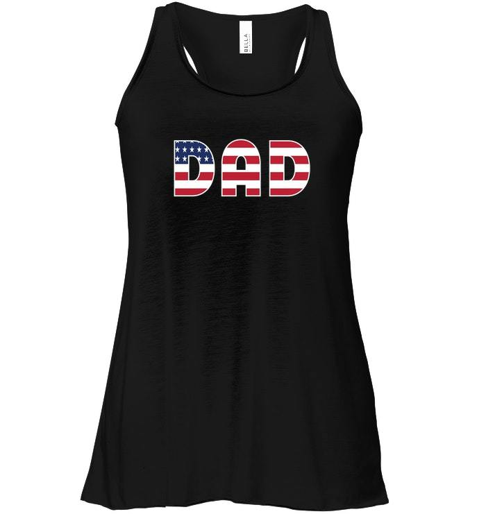 FUNNY DAD DADDY USA Flowy Racerback Tank CHRISTMAS GIFT FOR FATHERS