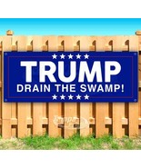 DONALD TRUMP DRAIN THE SWAMP Advertising Vinyl Banner Flag Sign Many Sizes - $14.24+