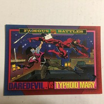 1993 Marvel Daredevil vs Typhoid Mary Famous Battles Comics Trading Card - $1.99