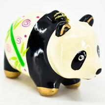 Handcrafted Painted Ceramic Panda Bear Confetti Ornament Made in Peru image 1