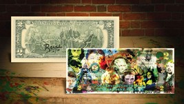 COLLAGE COLORFUL DREAM Rency / Banksy Pop Art $2 Bill US - Signed by Art... - $28.71