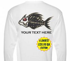 6 Personalized Custom Front & Back Printed Dri Fit Longsleeve Fishing Sun Shirt image 1
