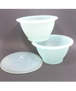 Tupperware Tupper Millionaire Line Party Bowl #145 & #146 Blue  - $39.99