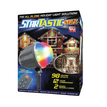 BRAND NEW BOXED startastic max Projection Christmas party yard Light wit... - $51.97